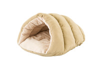 Sleep Zone Cuddle Cave 22″  Pet Bed  - Tan
