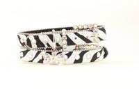 Zebra Hair Dog Collar