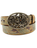 Ariat Women's Floral Whimsy Belt Cream