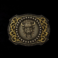 Antiqued Buffalo Head Buckle