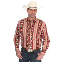 Wrangler Men's Checotah® Dress Western Long Sleeve Shirt - Olive
