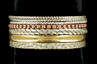 Blazin Roxx Western Womens Jewelry Bracelet Mixed Bangle Set
