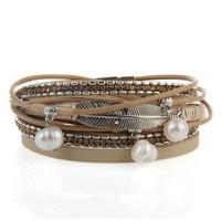 Women's Multi-Layer Feather Bracelet