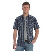 Wrangler Men's Fashion Snap Short Sleeve Shirt