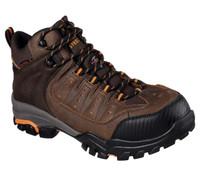 Skechers Men's Delleker Hiker Steel Toe Waterproof  Work Boots - Brown