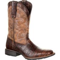 Durango Men's Mustang Gator Emboss Western Boot - Brown