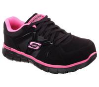 Skechers Women's Athletic Composite Toe Work Boots - Black/Pink