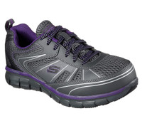 Skechers Women's Athletic Composite Toe Work Boots - Grey/Purple