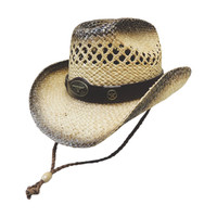 Dallas Hat Men's Nat Straw With Steer HatBand