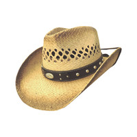 Dallas Hats Men's Luke Vented Western Straw Hat