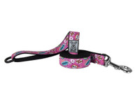 RC Dog Leash  Pink Comic Sounds 6ft