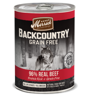 Merrick Backcountry Grain Free - 96% Real Beef Canned Dog Food