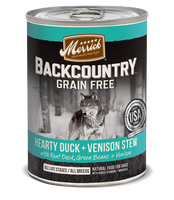 Merrick Backcountry Grain Free - Hearty Duck + Venison Stew Canned Dog Food