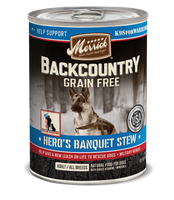 Merrick Backcountry Grain Free Hero's Banquet Stew Canned Dog Food