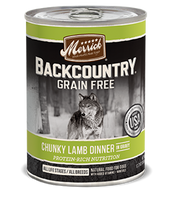 Merrick Backcountry Chunky Lamb Dinner in Gravy Canned Dog Food