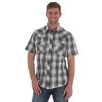 Wrangler Men's Snap Short Sleeve Shirt - Black