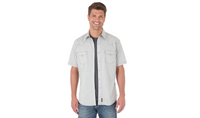 Wrangler Men's Retro Short Sleeve Shirt - Light Grey