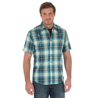 Wrangler Men's Retro Short Sleeve Snap Shirt Plaid