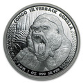 2015 Republic of Congo Silver 1 oz Silverback Gorilla