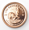 Krugerrand Proof 1/50 Oz Gold Coin 2017 - Reverse