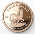 Krugerrand Proof 5 Oz Gold Coin 2017 - Reverse
