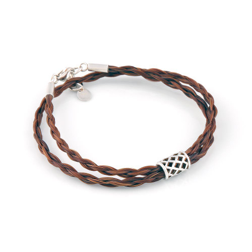 The Double Round Elegant Horsehair Bracelet