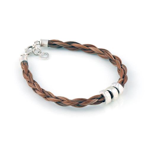 Trilogy - Single round Horsehair Bracelet