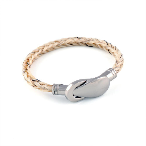 Forget Me Not - A Single Square Horsehair Bracelet.