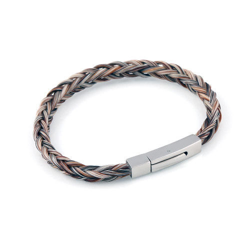 Forever - A Single Square Horsehair Bracelet.