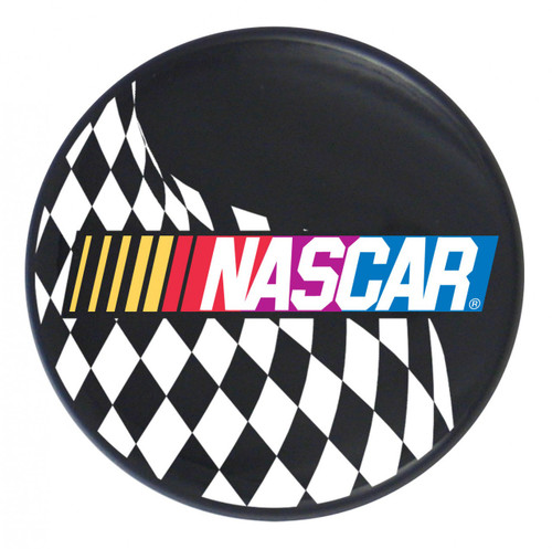 NASCAR Logo w/ Checkered Flag on Black