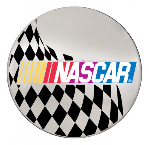 NASCAR Logo w/ Checkered Flag on Chrome