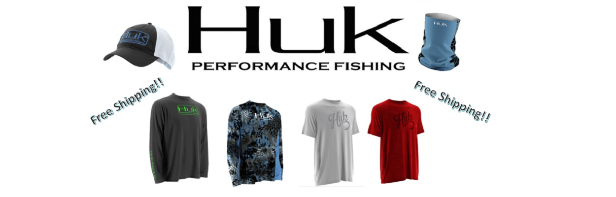 Huk fishing gear available.