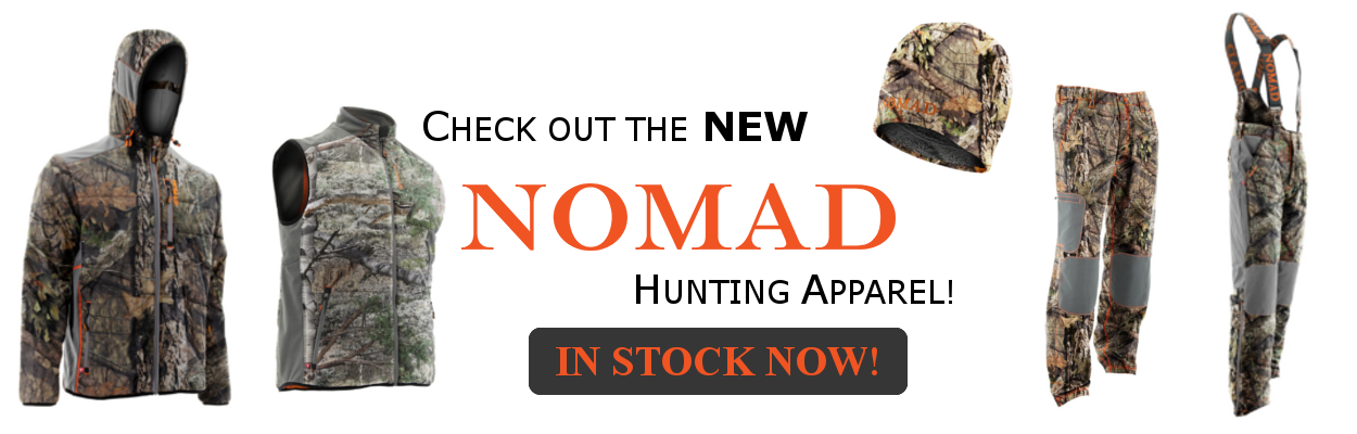 Nomad Outdoors is in stock now!