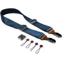 Peak Design Slide Camera Strap SL-T-2 (Navy with Caramel Leather)
