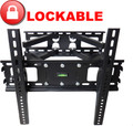 "FULL MOTION TILT PLASMA LCD LED TV WALL MOUNT BRACKET 24 - 55"" TVs LOCKABLE"