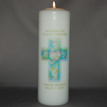 Baptism/Christening Candle with Cross