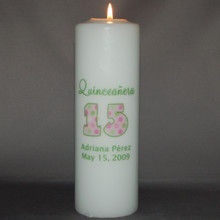 Quinceinera 15th Birthday Candle