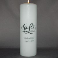 Monogramed Unity Candle