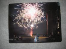Wedding Couple Celebrating with Fireworks