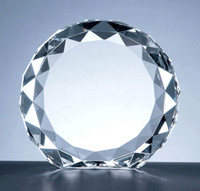 56-24042  Crystal Beveled Circle Award