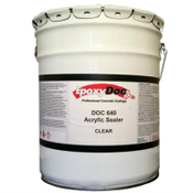 DOC 640 is a one component acrylic solvent based sealer.  It exhibits excellent protection for concrete surfaces.  It helps waterproof and strengthen concrete and cementitious surfaces.