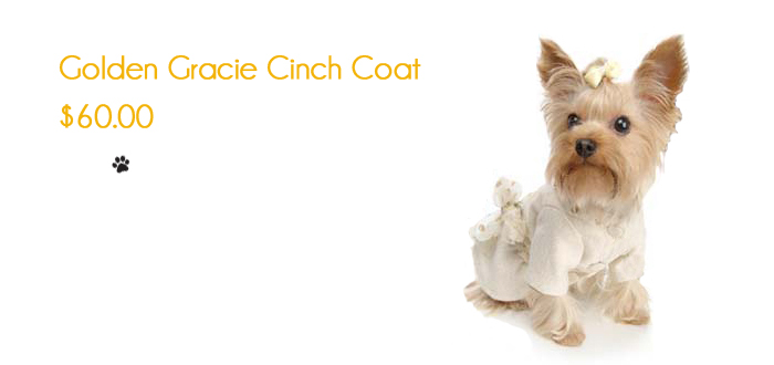 Golden Gracie Cinch Coat