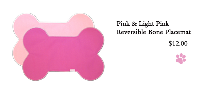 Pink & Light Pink Reversible Bone Placemat