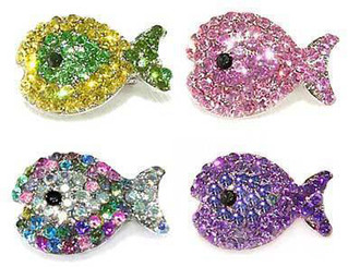 Swarovski Fish Clips