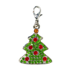 Tree Holiday Jewel Collar Charm
