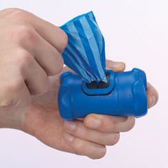 Blue Bone-Shaped Waste Bag Holder