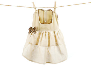 Beige Linen Summer Dress