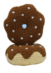 Chocolate Donut Crochet Toy