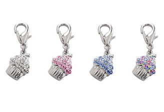 Crystal Cupcake Charms