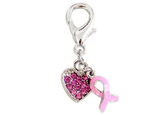 "The ""Faith"" Breast Cancer Charm"